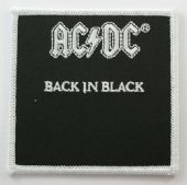 AC/DC - 'Back in Black' Embroidered Patch